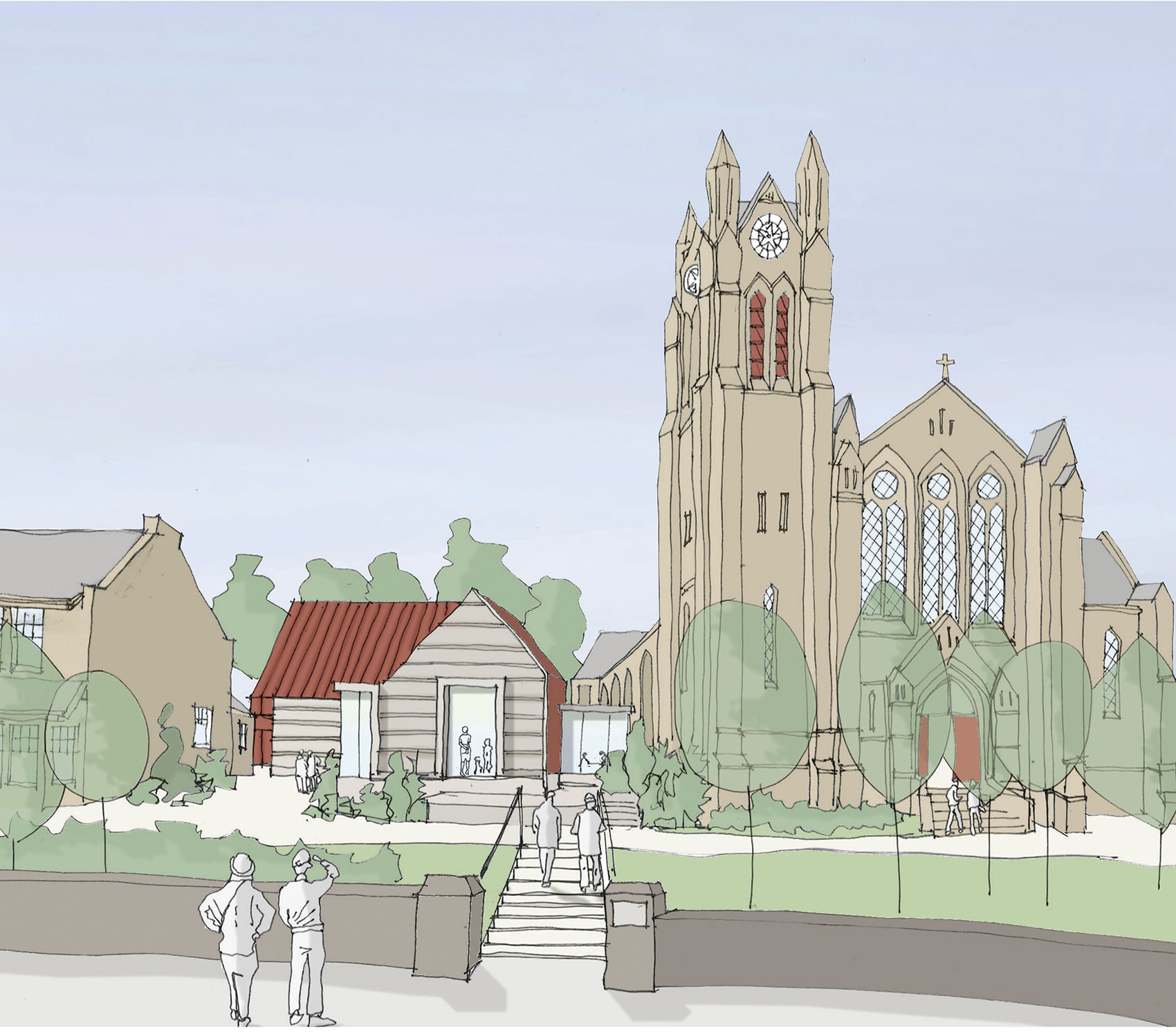An artists impression of the development of Greenbank Parish Church